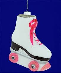 roller skate ornament glass