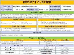 project charter template powerpoint casseh info