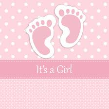 baby girl cards baby girl footprints card free stock photo domain pictures
