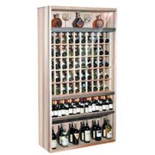 Locking Wine Display Cabinet Commercial Wine Rack