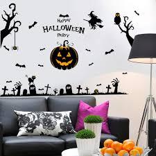 1sheep multi pieces halloween pumpkin wich owl bat diy wall