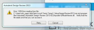 autodesk design review solved error message when installing autodesk design review 2013
