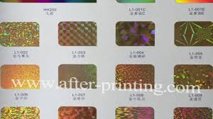 color chart of stamping foil youtube