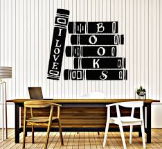 book store library vinyl wall stickers reader books bibliophile book store library vinyl wall stickers reader books bibliophile wall sticker decor study wallpaper waterproof mural sa220 in wall stickers from home