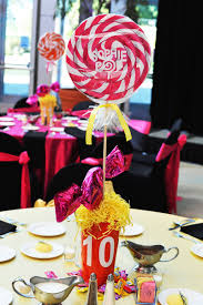 centerpieces with candy sophie u0027s candy bar setting the mood