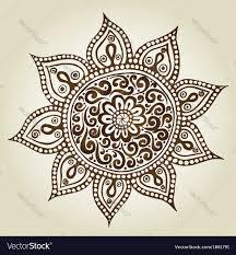 mandala ornament pattern ornamental flowers vector image