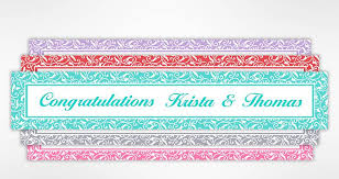 congratulations wedding banner custom wedding bridal shower bachelorette party banners party