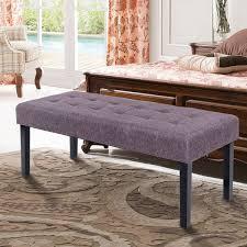 Bed Bench Ottoman Costway Rakuten Costway Upholstered Fabric Bed Bench Ottoman