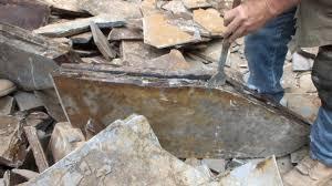 hand splitting eagle mtn slate flagstone and patio stone youtube