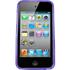 Wildfire Pod Tab by Igadgitz Circle Purple Gel Case Tpu For Apple Ipod Touch 4th