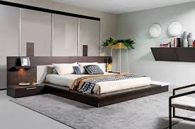 Oak Platform Bed Torino Contemporary Brown Oak Grey Platform Bed W Lights