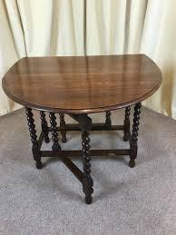antique oak barley twist drop leaf table 1930 u0027s gate leg dining