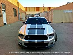 Black Mustang Shelby Project Mustang Shelby Gt500 By Dbx U2013 Wrapped In Frozen Chrome