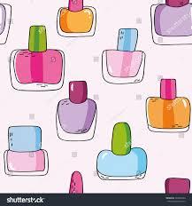 cute seamless pattern nail polish bottles stock vector 223989946