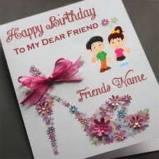 best friend happy birthday wishes name card profile pictures