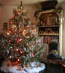 impressive design christmas tree tinsel ruby red treetopia
