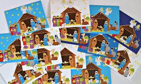 kid created nativity christmas cards u2013 in lieu of preschool