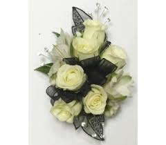 Black And White Corsage Wrist Corsages Delivery Wyoming Mi Wyoming Stuyvesant Floral