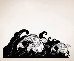 aliexpress com buy koi fish wave japan style creative wall art