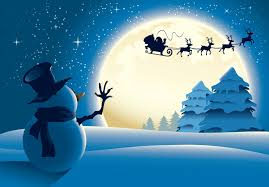 snowman snow santa claus is coming merry tree new year