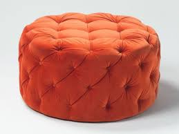 Tufted Leather Cocktail Ottoman by Furniture Distinctive Faux Crocodile Leather Round Ottoman Chair