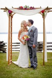 wedding arch used colorful rustic vermont outdoor wedding outdoor wedding arches
