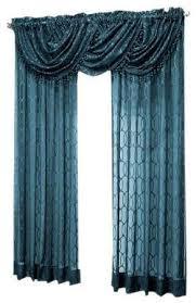 Blue Valance Curtains Peacock Curtains Ebay