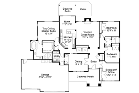 Floor Plans For Ranch Style Homes by Craftsman House Plans Goldendale 30 540 Associated Designs