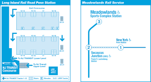 Nj Train Map Mta Lirr Meadowlands Service