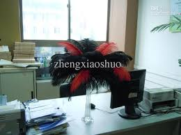 Ostrich Feather Centerpieces Wholesale by Wholesale 12 14inch30 35cm Red And Black Ostrich Feathers For