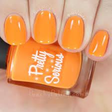 Shade Of Orange Names Pretty Serious Cosmetics Halloween 2015 Naileontology U0026 Well