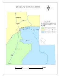 New Mexico County Map by Otero County New Mexico