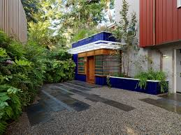 Pea Gravel Front Yard - gravel front yard with gravel l andscape contemporary and inc