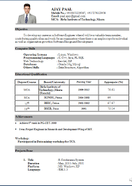 Example Of Resume Title by Appealing Resume Headline For Fresher Mca 31 In Sample Of Resume