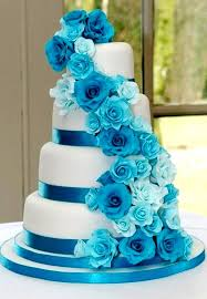 blue wedding pictures on blue wedding cakes wedding ideas