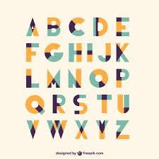 retro vintage type font vector free download