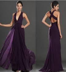 flowy bridesmaid dresses 2017 v neck chiffon bridesmaid dresses purple