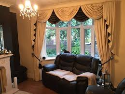 damask kitchen curtains black and cream striped patterned window curtain panel combined