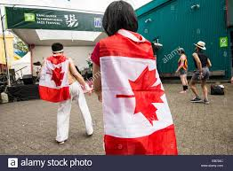 Dancing Flags People Wearing Canadian Flags Dance Music At The Td Vancouver