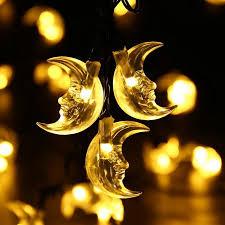 christmas string lights solar string lights moon solar string