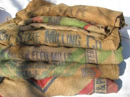 burlap bags for sale hessian cloth gunny sacks vintage burlap feed grain bags lot