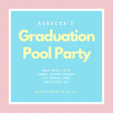 pool party invitations pool party invitation templates canva