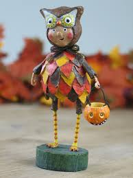 seriously cute whimsical lori mitchell owl turk or treat