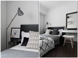 Black And White Interior Design Bedroom Home Project Scandinavian Style Mix Home