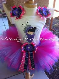 Monster Inc Halloween Costumes Monster U0027s Inc Boo Costume Tutu Set By Flutterbyetutu On Etsy