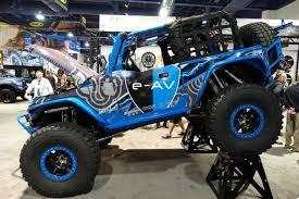 sema jeep 2016 poison spyder e av electric adventure vehicle jeep wrangler