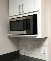 kitchen microwave ideas the 25 best microwave shelf ideas on open kitchen