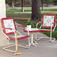 coral coast paradise cove retro 3 pc metal arm chair chat set