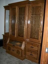 Wood Gun Cabinet Furniture Outstanding Wooden Gun Cabinets Give A Great Look In