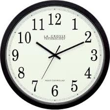 wall watch la crosse technology wt 3143a 14 inch atomic wall clock black